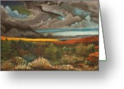 Dismal Greeting Cards - Approaching Storm Greeting Card by Shannon Rains