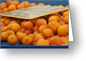 Apricots Photo Greeting Cards - Apricots Greeting Card by Georgia Fowler