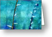 "\""aimelle Photography\\\"" Greeting Cards - Aqua and Indigo Greeting Card by Aimelle"