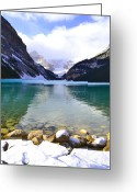 Winter Photos Greeting Cards - Aqua Louise Greeting Card by Andrea Hazel Ihlefeld