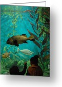 Tropical City Prints Greeting Cards - Aquarium 19 Greeting Card by Joyce StJames