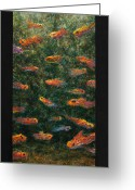 Aquarium Painting Greeting Cards - Aquarium Greeting Card by James W Johnson