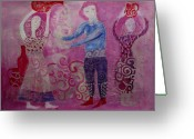 Jugs Greeting Cards - Aquarius Greeting Card by Aliza Souleyeva-Alexander