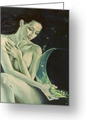 Zodiac Greeting Cards - Aquarius from  Zodiac signs series Greeting Card by Dorina  Costras