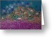 Bletila Striata Greeting Cards - Aquarius Painting Greeting Card by Don  Wright