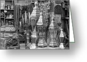 Souk Greeting Cards - Arab bazaar Greeting Card by Paul Cowan