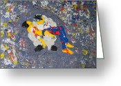 Pieta Painting Greeting Cards - Arab Despair Two - La Pieta Greeting Card by Marwan George Khoury