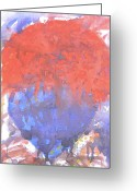 Martyrs Painting Greeting Cards - Arab Spring Five Greeting Card by Marwan George Khoury