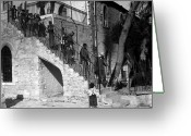 Youths Greeting Cards - Arab Youths in Bethlehem 1938 Greeting Card by Munir Alawi