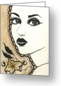 Nora Blansett Painting Greeting Cards - Arabel Greeting Card by Nora Blansett