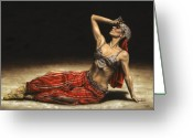 Belly Dance Greeting Cards - Arabian Coffee Awakes Greeting Card by Richard Young