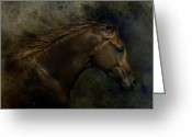 Cowboy Digital Art Greeting Cards - Arabian Greeting Card by Sue Fulton