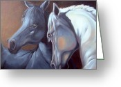 Fine Art - Animals Greeting Cards - Arabique Greeting Card by Enzie Shahmiri