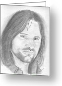 Aragorn Greeting Cards - Aragorn Greeting Card by Amy Jones