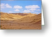 Warm Pyrography Greeting Cards - Arava desert Greeting Card by Aleksander Suprunenko