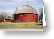 Round Barn Greeting Cards - Arcadia Round Barn Greeting Card by Denise Keegan Frawley