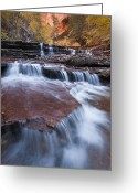 Cascades Greeting Cards - Arch Angel Falls Greeting Card by Joseph Rossbach