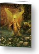 Archangel Greeting Cards - Archangel Azrael Greeting Card by Steve Roberts
