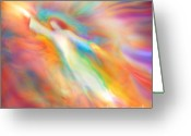Healing Art Greeting Cards - Archangel Jophiel Illuminating the Ethers Greeting Card by Glenyss Bourne