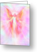 Guardian Angel Greeting Cards - Archangel Metatron Reaching Out in Compassion Greeting Card by Glenyss Bourne