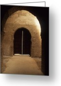 Rabat Greeting Cards - Arched Doorway Greeting Card by Carl Purcell