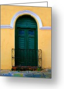 Puerto Rico Greeting Cards - Arched Doorway Greeting Card by Perry Webster