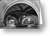 Entryway Greeting Cards - Arched in Black and White Greeting Card by CJ Schmit