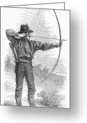 Archer Greeting Cards - ARCHER, c1880s Greeting Card by Granger