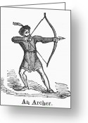 Archer Greeting Cards - Archer Greeting Card by Granger