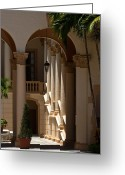  Biltmore Hotel Greeting Cards - Arches and Columns at the Biltmore Hotel Greeting Card by Ed Gleichman