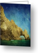 Relaxing Greeting Cards - Arches Greeting Card by Leah Moore