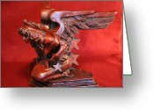 Shelf Stand. Sculpture Greeting Cards - Architectural Angel Greeting Card by Larkin Chollar