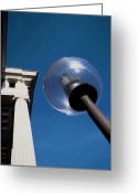 Classical Style Greeting Cards - Architectural Detail And Lampost Greeting Card by Carlos Dominguez