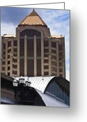 Stout Greeting Cards - Architectural Differences Roanoke Virginia Greeting Card by Teresa Mucha