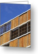 Louvred Greeting Cards - Architectural Louvres Greeting Card by Andy Smy