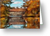 Autumn Scenes Greeting Cards - Architecture - Bridges - Worn out but still used Greeting Card by Mike Savad