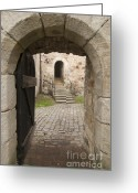Entrance Door Greeting Cards - Archway - Entrance to historic town Greeting Card by Matthias Hauser