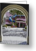Hyper-realism Greeting Cards - Archway in Sunlight Greeting Card by Tony Chimento