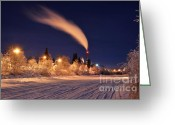 Time Stack Greeting Cards - Arctic Power at Night Greeting Card by Gary Whitton