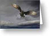 Skua Greeting Cards - Arctic Skua Greeting Card by Winfried Wisniewski