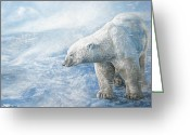 Polar Bear Greeting Cards - Arctic Sovereign Greeting Card by Cara Bevan