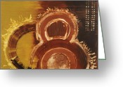 Circle Greeting Cards - Are You In Greeting Card by Michel  Keck