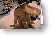 Gauguin Greeting Cards - Are You Jealous Greeting Card by Paul Gauguin