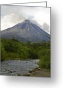 River Banks Greeting Cards - Arenal By Day Greeting Card by Julie Black