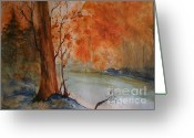 Autumn Photographs Greeting Cards - Arizona Burning Greeting Card by Julie Lueders