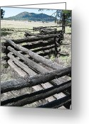 Split Rail Fence Greeting Cards - Arizona Rail Fence Greeting Card by John Haldane