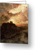 Thomas Moran Greeting Cards - Arizona Sunset Greeting Card by Thomas Moran
