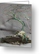 Music Sculpture Greeting Cards - Arizona Sycamore Greeting Card by Annette Tomek