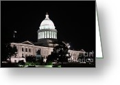 Hillary Clinton Greeting Cards - Arkansas State Capital Greeting Card by Joe Finney