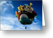 Balloon Festival Greeting Cards - Arky  Noahs Ark Greeting Card by Bob Orsillo